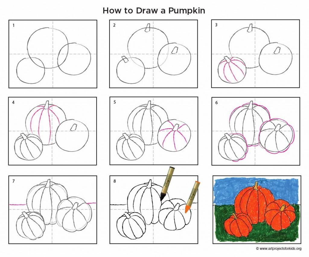 Drawn pumpkin pumkin  Drawing Pumpkin
