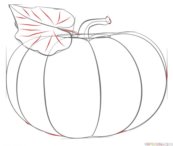 Drawn pumpkin pumkin Tutorials step How draw pumpkin