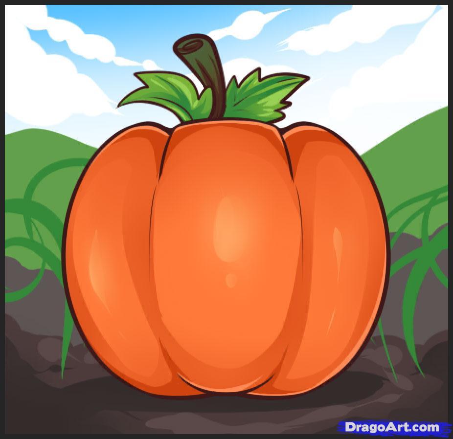 Drawn pumpkin pumkin Online how draw Pop by