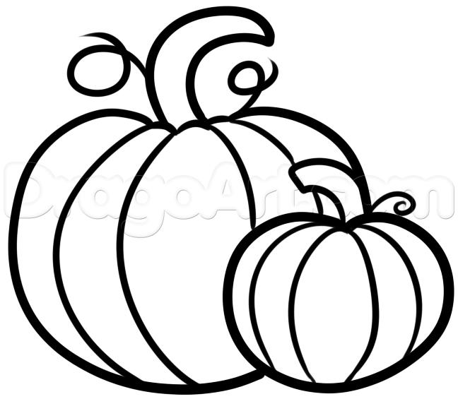 Drawn pumpkin pumkin Draw pumpkins Seasonal by