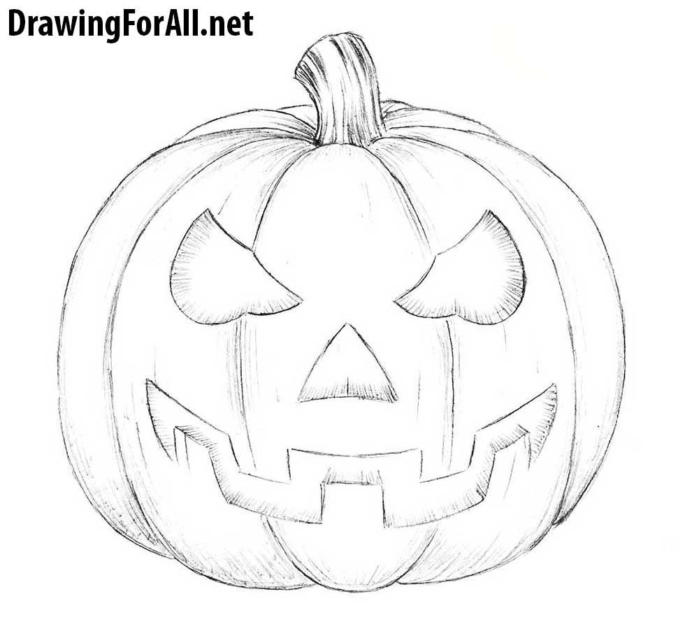 Drawn pumpkin pumpkin face A to Pumpkin pumpkin Halloween