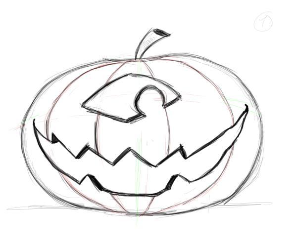 Drawn pumpkin pumpkin face Faces pumpkin Factory Cyclops Drawing
