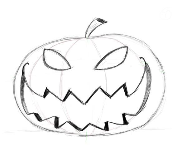 Drawn pumpkin pumpkin face Factory pumpkin pumpkin drawing drawing