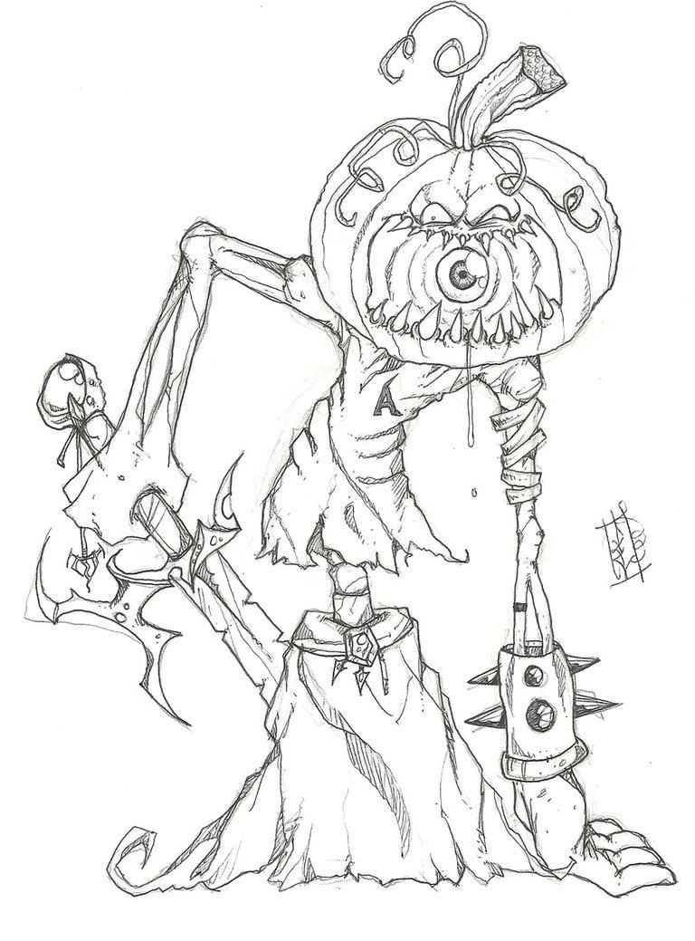 Drawn pumpkin pumpkin head DeviantArt head pumpkin on Angreumachmor