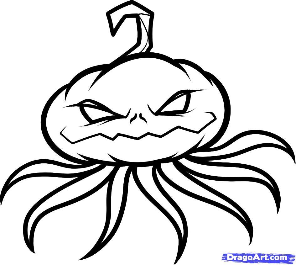 Drawn pumpkin pumpkin head To pumpkin head Step How