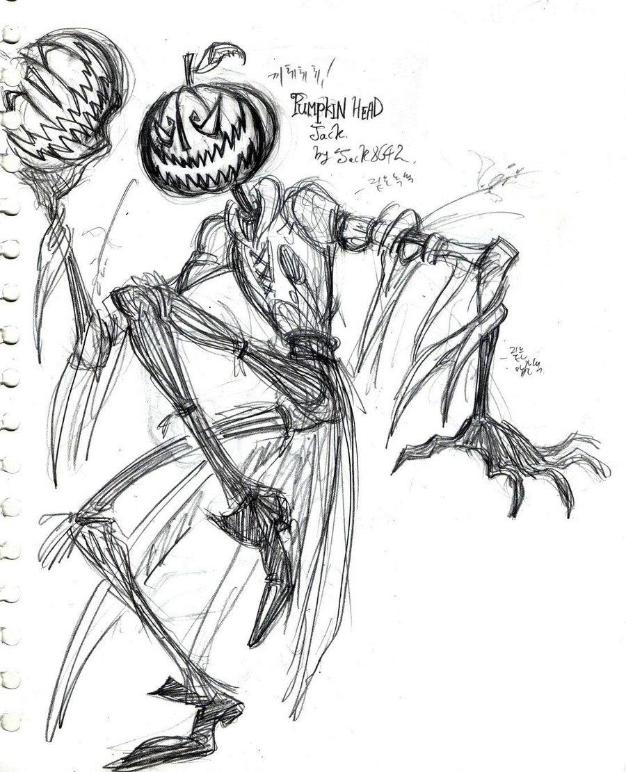 Drawn pumpkin pumpkin head Head Head Pumpkin Pumpkin jack8642