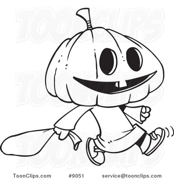 Drawn pumpkin pumpkin head Or of Drawing White Trick