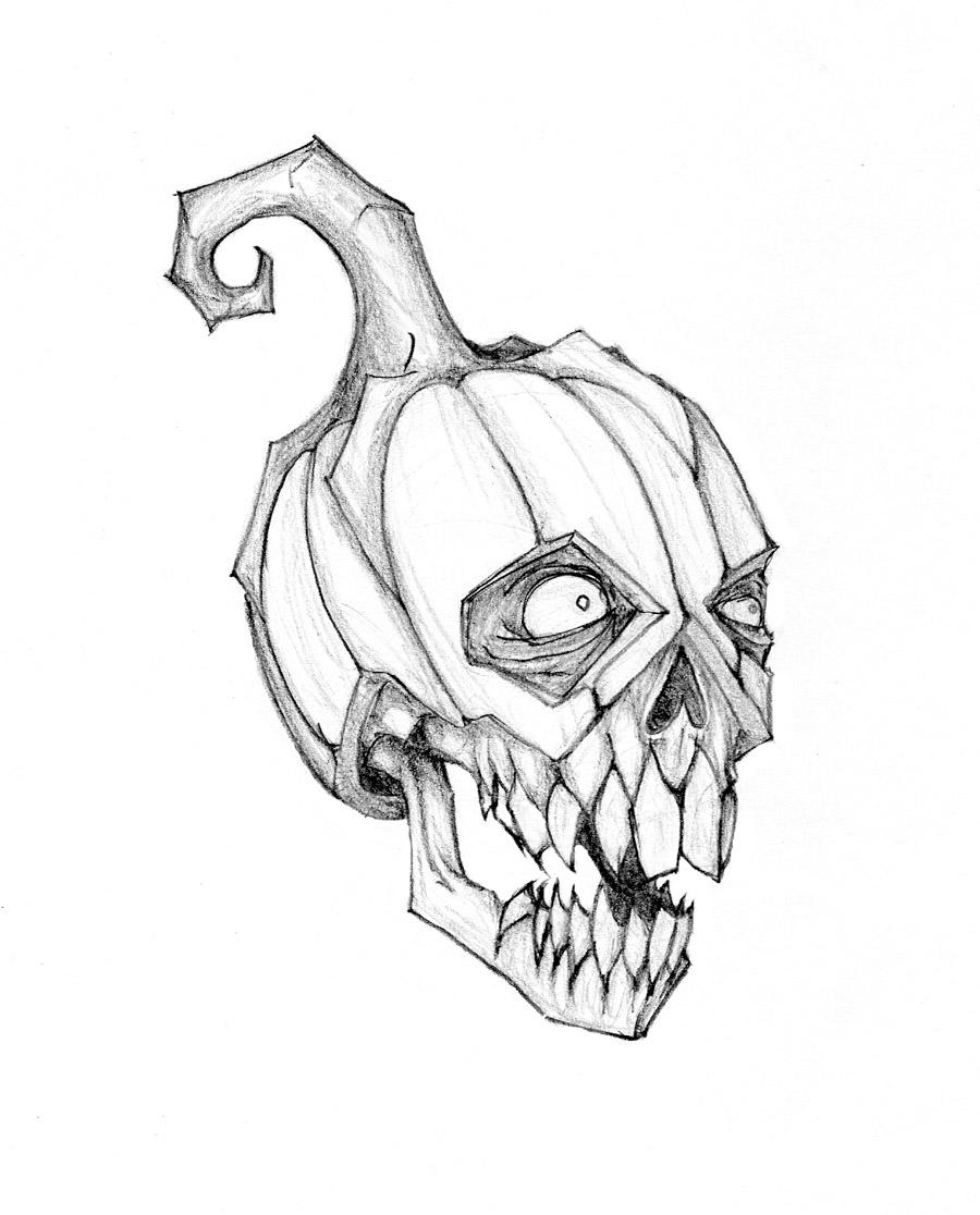Drawn pumpkin pumpkin head Pumpkinhead Molotov666 DeviantArt on by