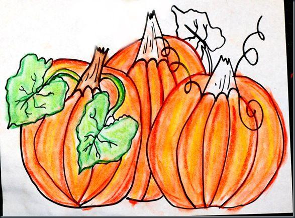 Drawn pumpkin pumpkin patch This autumn lessons: images 222