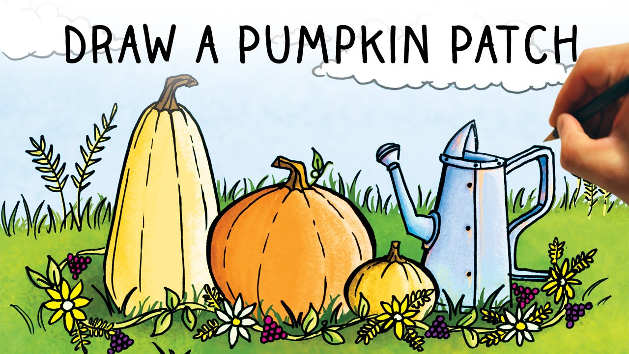 Drawn pumpkin pumpkin patch From YouTube Narrated Step to