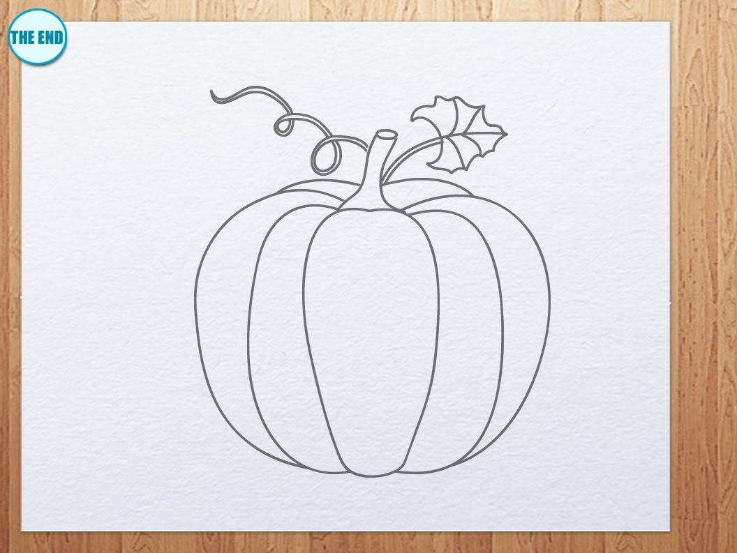 Drawn pumpkin pumpkin plant How YouTube pumpkin how draw