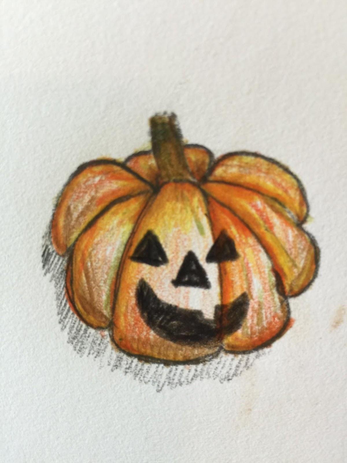 Drawn pumpkin realistic KIDS! a or few a