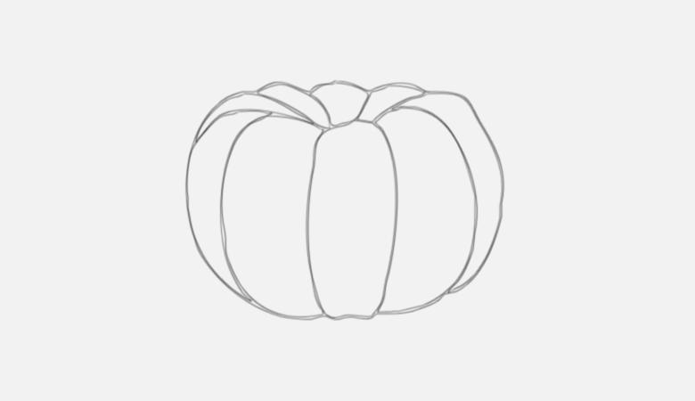 Drawn pumpkin realistic Halloween Create in a SitePoint
