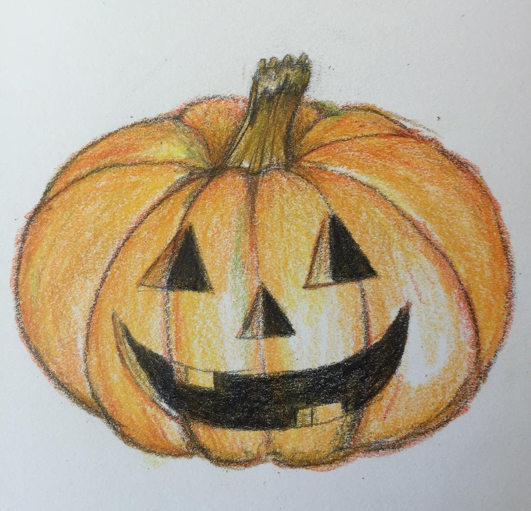 Drawn pumpkin realistic LENIHAN'S triangle a your