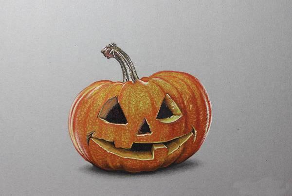 Drawn pumpkin realistic PSD Cool Drawing Premium Art