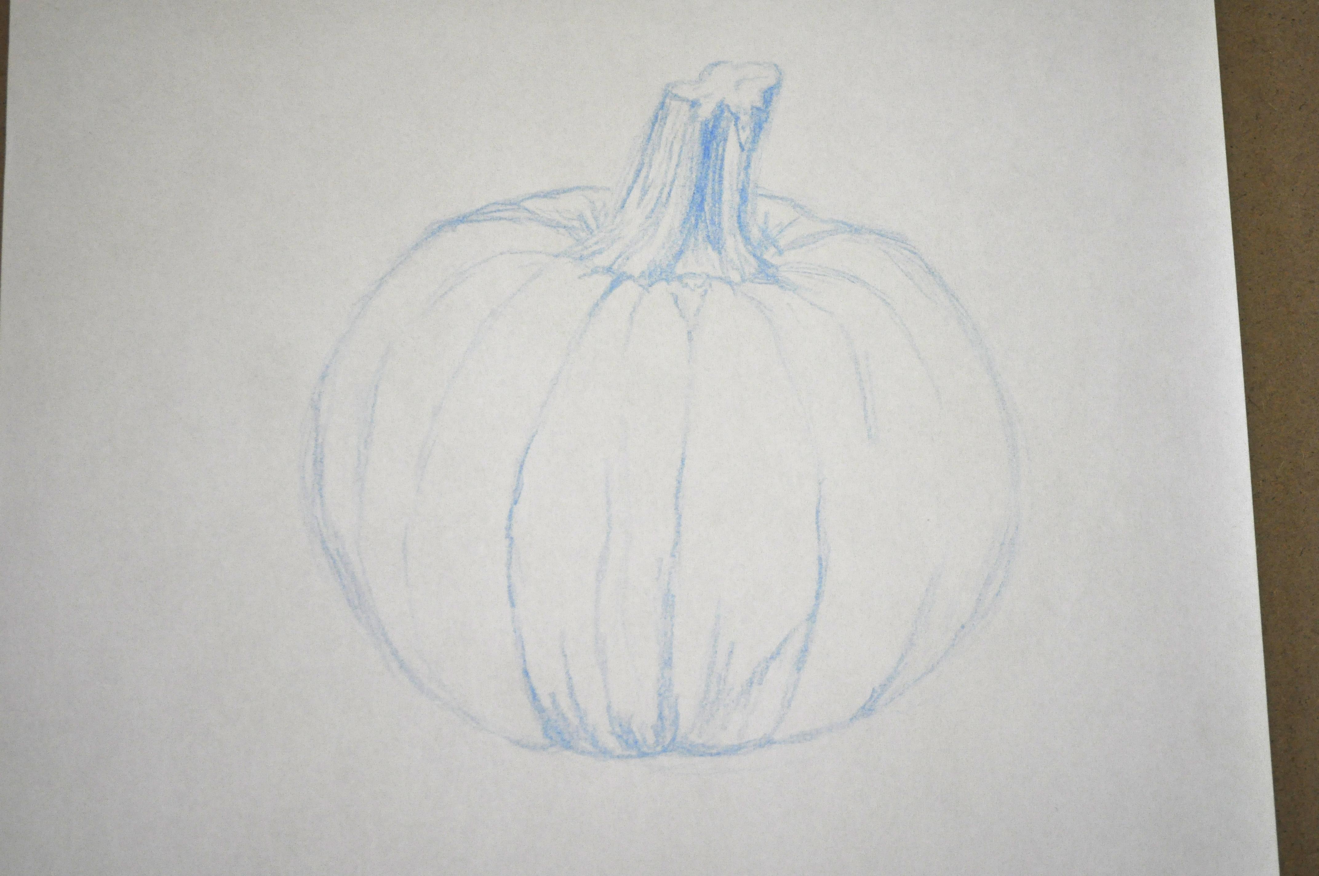 Drawn pumpkin shading Pumpkin Nest The is Drawing