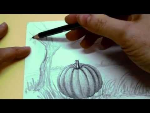 Drawn pumpkin shading And to best YouTube Drawing
