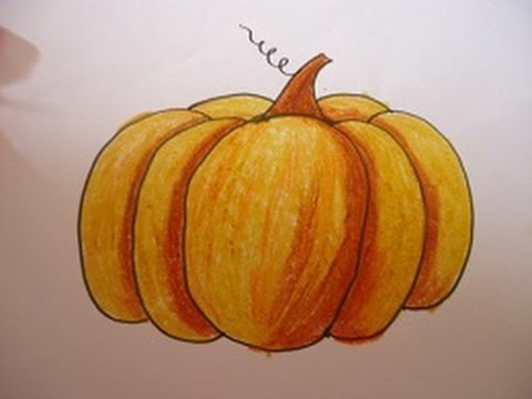 Drawn pumpkin shading Shading and easy steps in