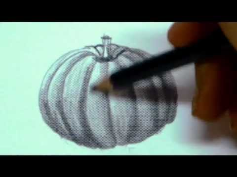 Drawn pumpkin leaf How PumpkinHow To Drawing A