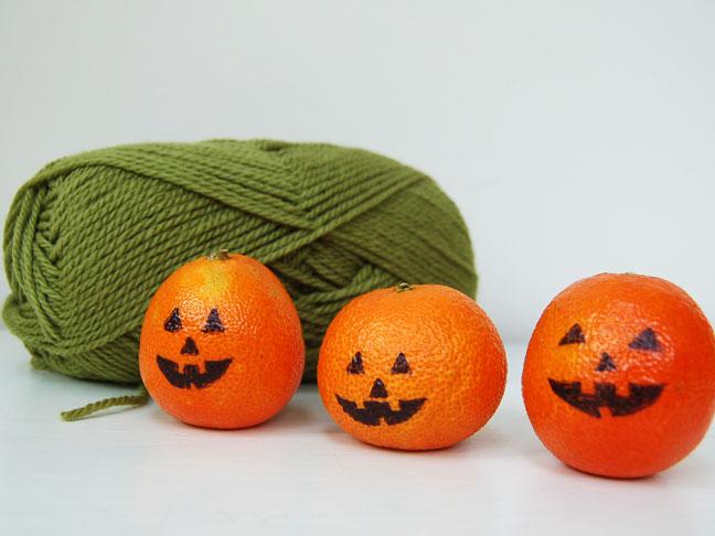 Drawn pumpkin sharpie Halloween Orage Craft: Decor DIY