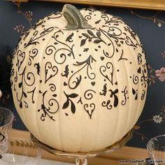 Drawn pumpkin sharpie Black with do tube pumpkin