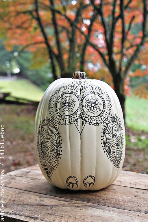 Drawn pumpkin sharpie Idea Owl Sugar Owl Sharpie