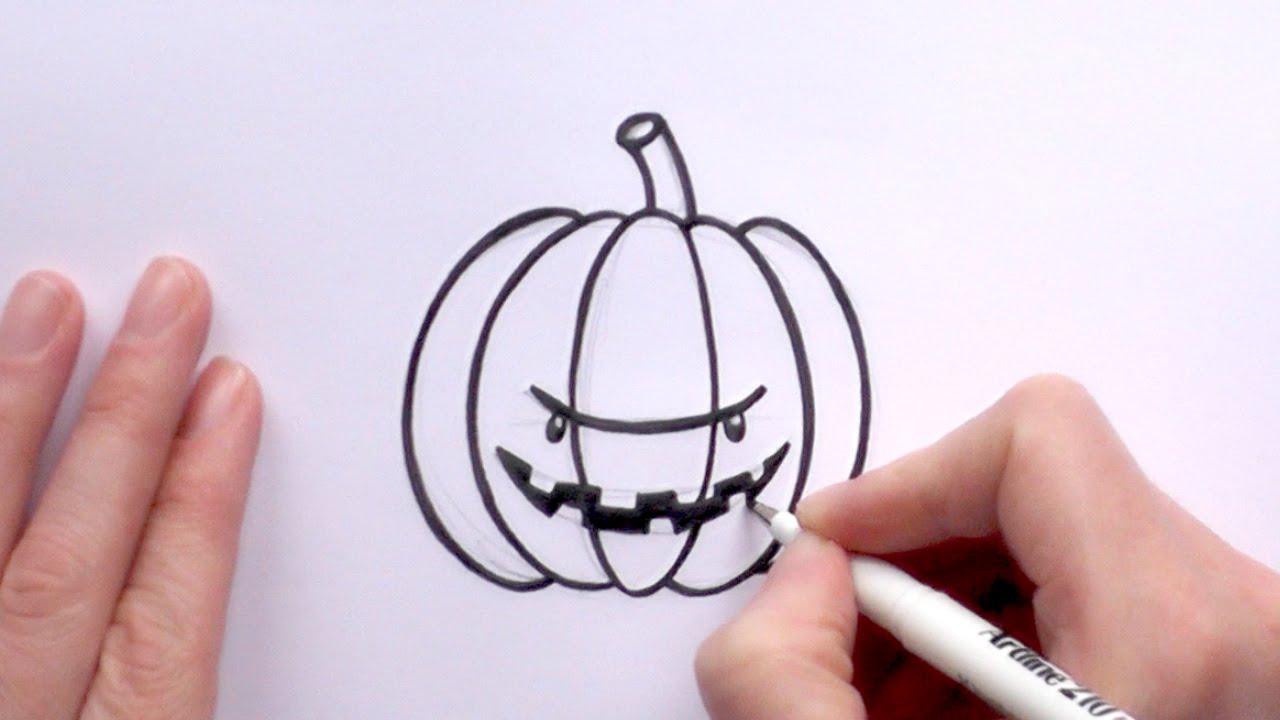 Drawn pumpkin spooky A Cartoon For a Draw