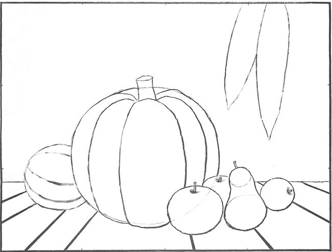 Drawn pumpkin thanksgiving Life Scene picture Still pumpkin