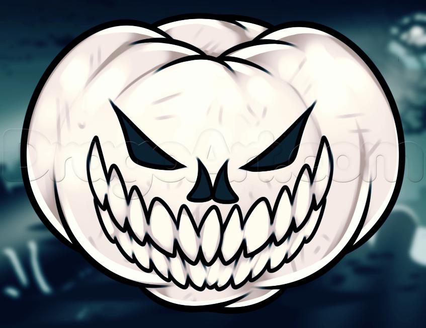 Drawn pumpkin themed Draw by How pumpkin to