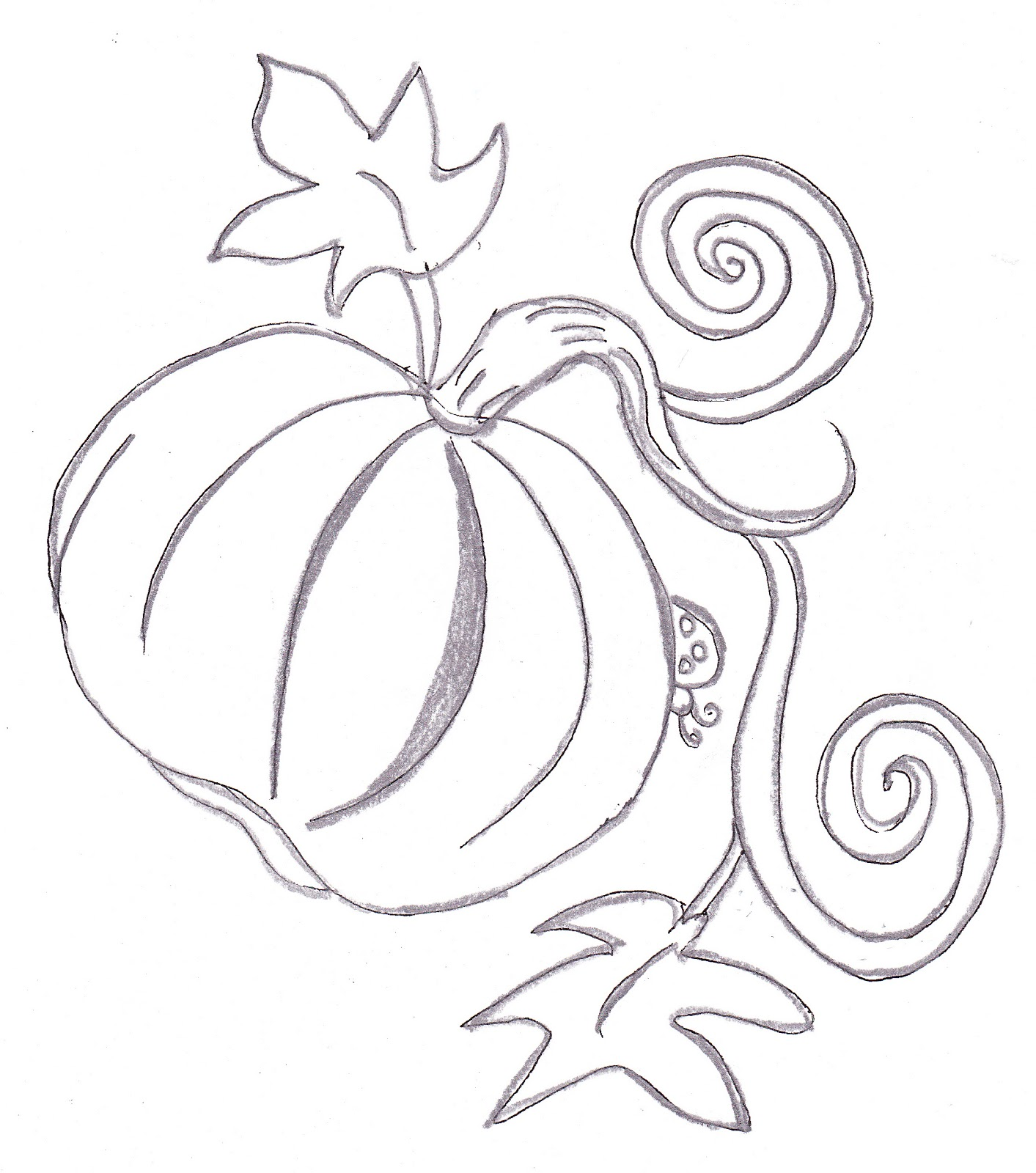 Drawn pumpkin themed For with from pumpkin leaves