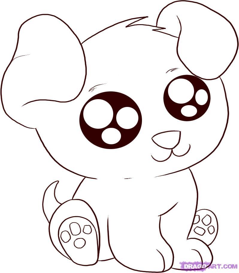 Drawn pony cute anime dog Anime draw Step Step draw
