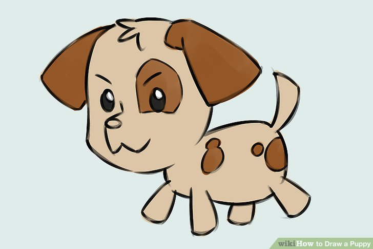 Drawn puppy A Image wikiHow Ways a