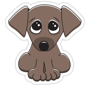 Drawn puppy big eye Stickers cartoon Sticker big