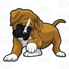 Drawn puppy boxer #boxerdog A One A Up