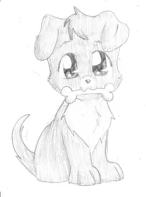 Drawn puppy cute anime kitty To How To Draw Anime