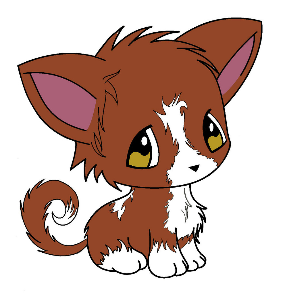 Drawn puppy cute anime kitty Anime animales anime gatos animales