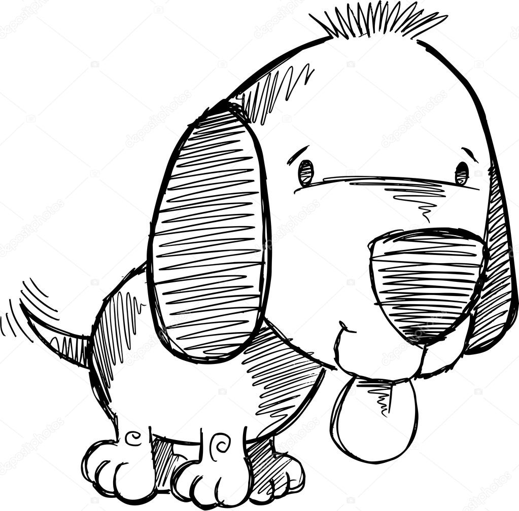 Drawn puppy doodle Doodle Doodle Stock Vector Illustration