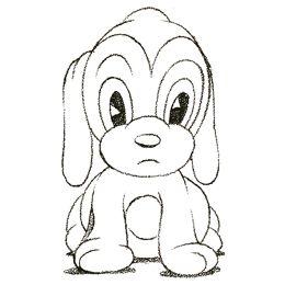 Drawn puppy doodle De a Steps Puppy Kids