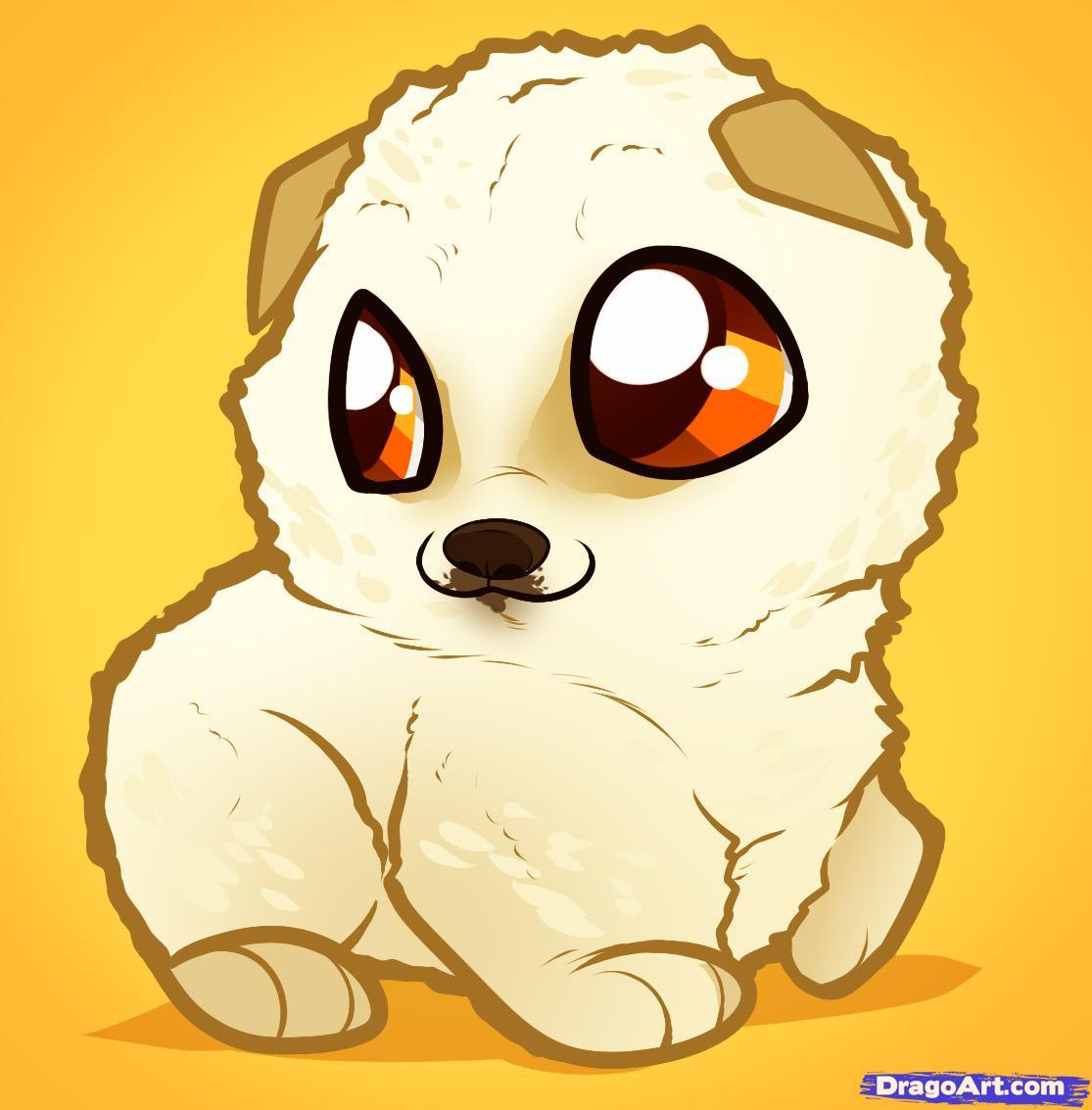 Drawn puppy dragoart A Puppy pomeranian how puppy