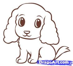 Drawn puppy easy Step  by 9 to