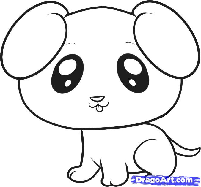 Drawn puppy easy To Drawings How Puppy A