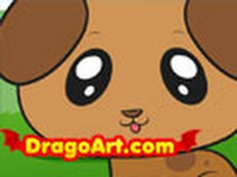 Drawn puppy easy kid Puppy draw step puppy to