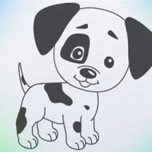 Drawn puppy easy kid Puppy draw how puppy Hub