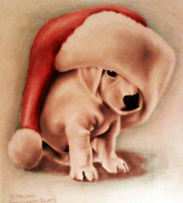 Drawn puppy fun christmas Drawings Puppy In Color Animal