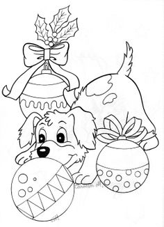 Drawn puppy fun christmas Собака for год Free puppy