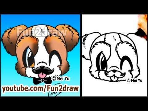 Drawn puppy fun2draw  a How Cartoon MUSTACHE