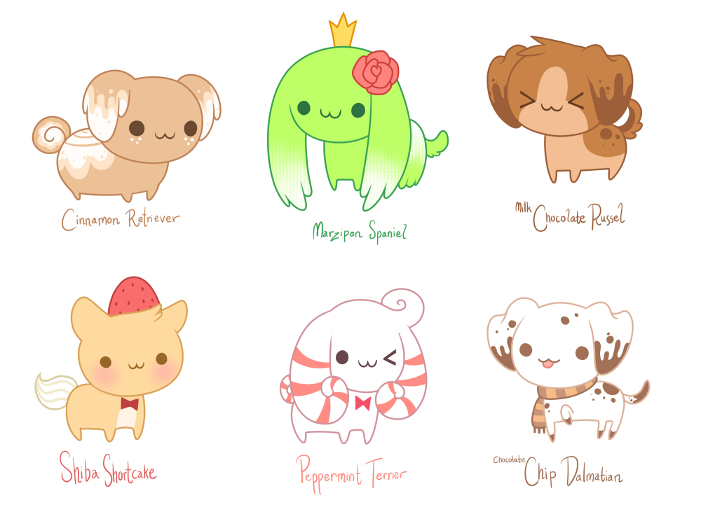 Drawn puppy kawaii SHOW TV puppies pastry SHOW