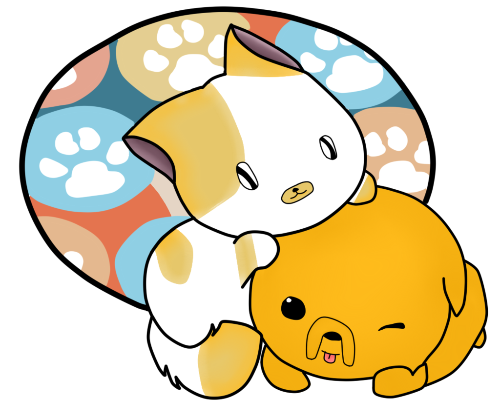 Drawn puppy kitten Kittens Cartoon puppies Anime and
