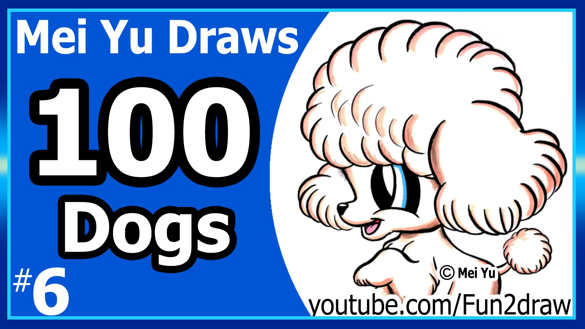 Drawn puppy mei yu Dogs YouTube Poodle Poodle Cute