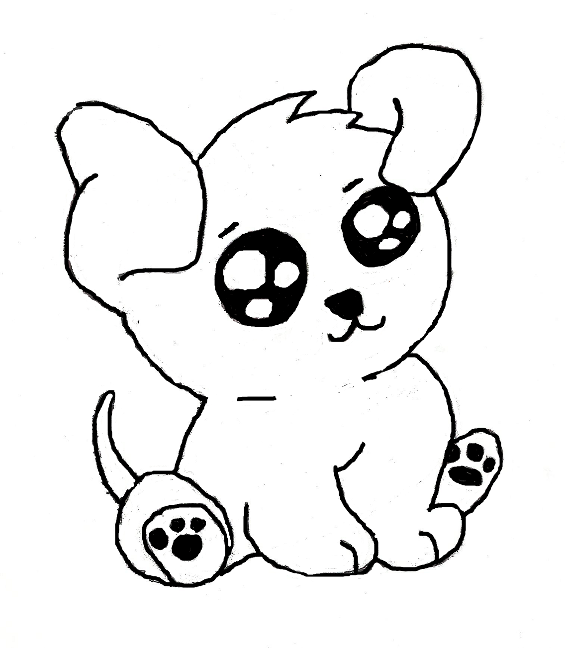 Drawn puppy puppie Drawings Drawings Puppy drawings Coloring